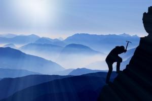 Bergsteiger, Spitze, Erfolg, Gemeinsam, Strategie, Ziele, Aufstieg, Geld